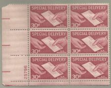 Buy United States Scott Stamps #E21, Plate block of 4, from 1957