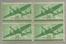 Buy United States Scott Stamps #C29, block of 4, from 1941