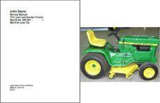 Buy John Deere 110 Lawn and Garden Tractor Service Repair Manual CD - SM2101