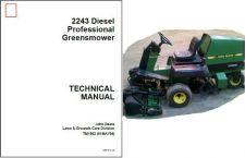 Buy John Deere 2243 Greensmower Diesel Lawn Mower Service Repair Manual CD