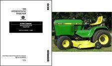 Buy John Deere 400 Hydrostatic Lawn & Garden Tractor Service Repair Manual CD