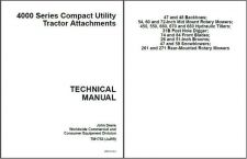 Buy John Deere 4000 Series Tractor Attachments Service Manual CD TM1763
