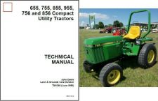 Buy John Deere 655 755 855 955 756 856 Compact Utility Tractor Service Manual CD