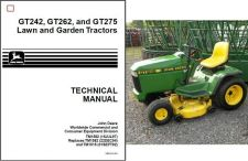 Buy John Deere GT242 GT262 GT275 Lawn & Garden Tractor Service Repair Manual CD