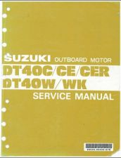 Buy 84-98 Suzuki DT40C DT50CE DT40CER DT40W DT40WK Outboard Motor Service Manual CD