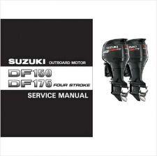 Buy Suzuki DF150 DF175 4-Stroke Outboard Motor Service Repair Manual CD DF 150 175