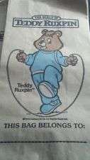 Buy Vintage 80'S World of Teddy Ruxpin 3 Lunch Bags * RARE*