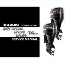 Buy Suzuki DF200 DF225 DF250 Outboard Motor Service Repair Manual CD DF 200 225 250