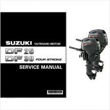 Buy Suzuki DF25A DF30A Four Stroke Outboard Motor Service Repair Manual CD DF 25 30