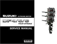 Buy Suzuki DF4 DF5 DF6 Four Stroke Outboard Motor Service Repair Manual CD DF 4 5 6