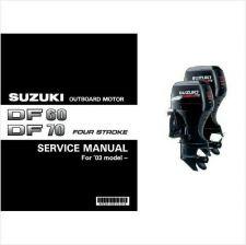 Buy Suzuki DF60 DF70 Four Stroke Outboard Motor Service Repair Manual CD -- DF 60 70
