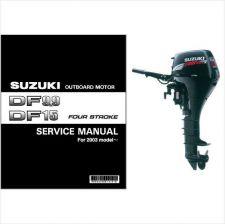 Buy 03-07 Suzuki DF9.9 DF15 Outboard Motor Service Repair Manual CD ..- DF 9.9 15