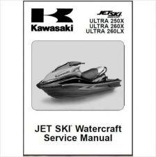 Buy 07-10 Kawasaki Jet Ski Ultra 250X 260X 260LX Service Manual CD JetSki 260 X LX