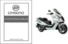 Buy CFMoto Jetmax 250 CF250T-6A Scooter Service Repair Manual CD ..- CF Moto