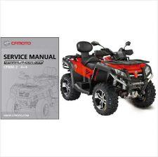 Buy CFMoto X8 CF800-2 Terralander 800 4X4 ATV Service Repair Manual CD .. CF Moto