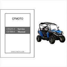 Buy CFMoto Z6 Terracross CF625-3 / Z5 EFI CF500-6 ATV Service Repair Manual CD