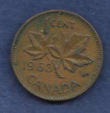 Buy Canada 1 Cent 1963 RED Canadian Canada Maple Leaf Elizabeth II Penny