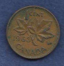 Buy Canada 1 Cent 1963 RED Canadian Canada Maple Leaf Elizabeth II Penny