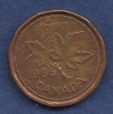 Buy Canada 1 Cent 1986 RED Canadian Canada Maple Leaf Elizabeth II Penny