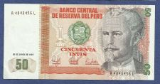 Buy 1987 Central Bank of Peru 50 Intis Note A4840456L