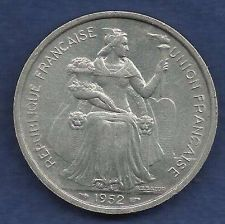 Buy France 5 Francs 1952 FRENCH OCEANIA NOVVELLE.CALEDONIE