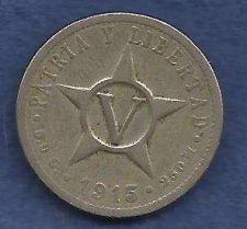 Buy Cuba 5 Centavos 1915