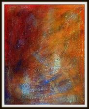 "Buy Original Encaustic Acrylic Painting Clear Resin 30"" x 24"""
