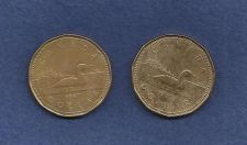 Buy Pair of Canadian One (1) Dollar Coins - 1987 Loon Dollars -SPECIAL ON TWO COINS!