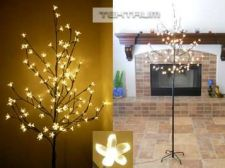 Buy Tektrum 6.5' Tall/108 Warm White LED Lighted Cherry Blossom Flower Tree
