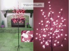 Buy Tektrum 6.5' Tall/108 Pink White LED Lighted Cherry Blossom Flower Tree