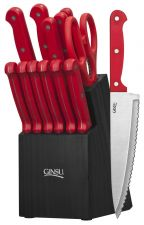 Buy Ginsu 3887 Essential Series Cutlery Set with Black Block, Red - FREE SHIPPING
