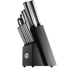Buy Ginsu Koden 14-piece Stainless Cutlery Set With Black Block - FREE SHIPPING