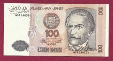 Buy 1987 Central Bank of Peru 100 Intis Banknote B9266035D