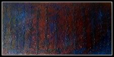 "Buy Original Encaustic Acrylic Painting Clear Resin 36"" x 18"""