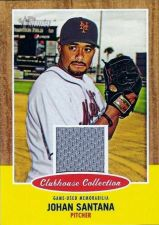 Buy 2011 Topps Heritage Johan Santana Jersey Card #CCR-JS Clubhouse Collection