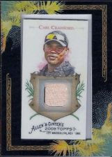 Buy 2008 Carl Crawford Topps Allen & Ginter's Bat Relics #CC2