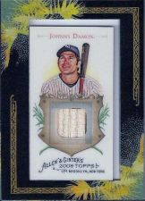 Buy 2008 Johnny Damon TOPPS Allen + Ginter Relic Bat Card AGR-JDD