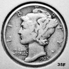 Buy 1935 Mercury Dime