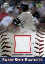 Buy 2002 Upper Deck Sweet Spot Swatches Frank Thomas Jersey S-FT