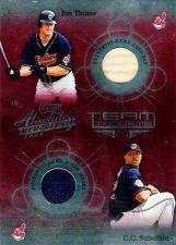 Buy 2002 Absolute Memorabilia Team Tandems 10 C.Sabathia/J.Thome Dual Jersey/Bat