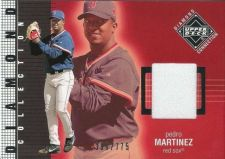 Buy 2002 Pedro Martinez Upper Deck Diamond Connection Jersey Card #251 (386/775)