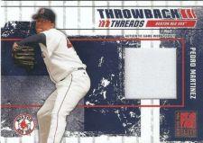 Buy 2003 Donruss Elite Throwback Threads #14 Pedro Martinez Jersey (136/250)
