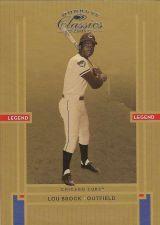 Buy 2005 Donruss Classics #235 Lou Brock Legend (0301/1000)