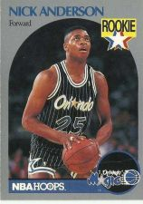 Buy 1990-91 NBA Hoops Nick Anderson Rookie Card - Orlando Magic