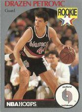 Buy 1990-91 NBA Hoops Drazen Petrovic Rookie Card - Portland Trail Blazers