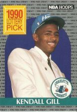 Buy 1990-91 NBA Hoops Kendall Gill Rookie Card - Charlotte Hornets