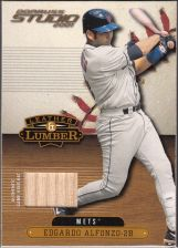 Buy Edgardo Alfonzo 2001 Donruss Studio Leather & Lumber Game Used Bat Card