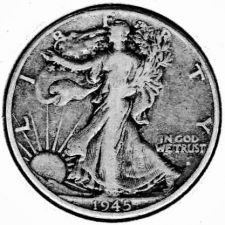 Buy 1945 Walking Liberty Half Dollar