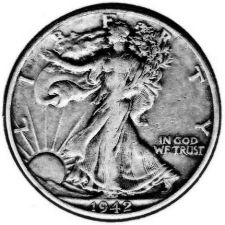 Buy 1942 XF Walking Liberty Half Dollar