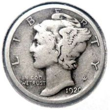 Buy 1920 Silver Mercury Dime